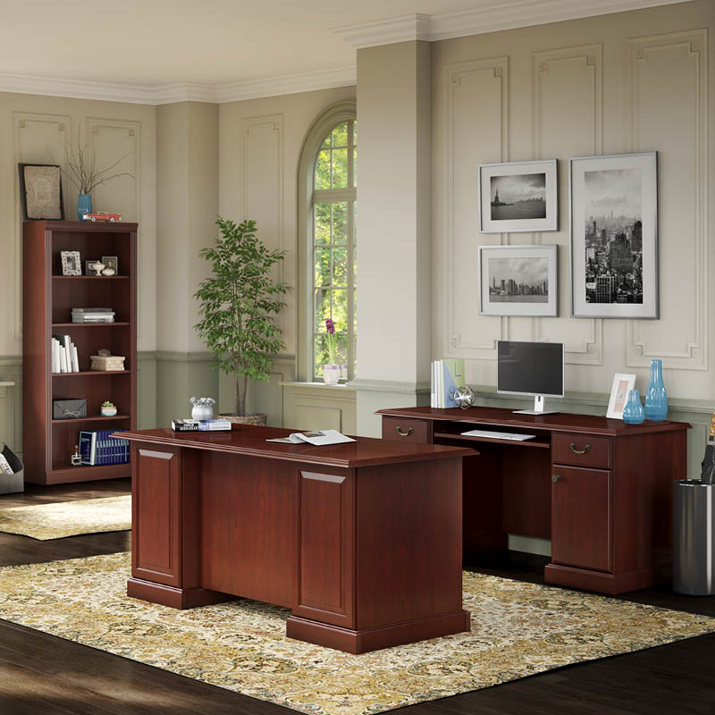 Manager's Desk, Credenza and Bookcase-Bennington Collection