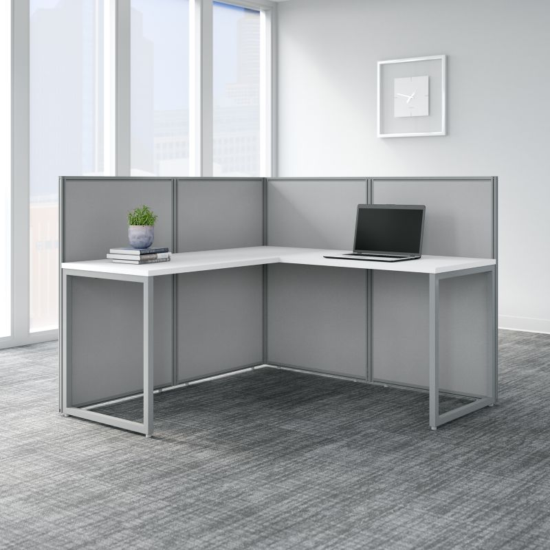 L Shaped Desk with Cubicle Panel - Easy Office