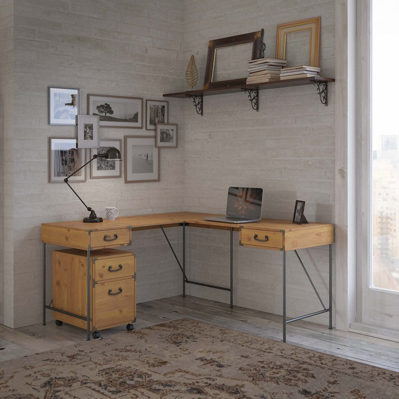 L-Shaped Desk - Ironworks Collection