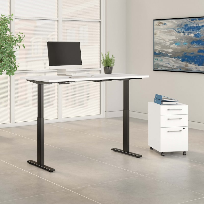 Height Adjustable Standing Desk with Storage - Move60 Collection