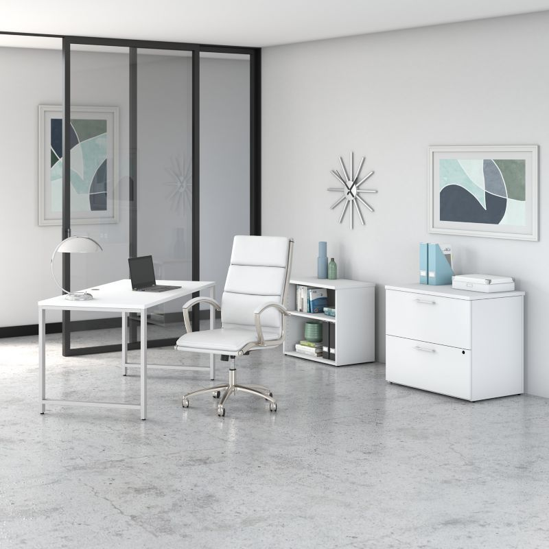 Table Desk with Metal Legs - 400 Series Collection