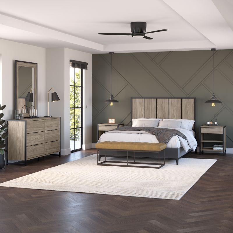 Modern Bedroom Set with Full/Queen Size Headboard