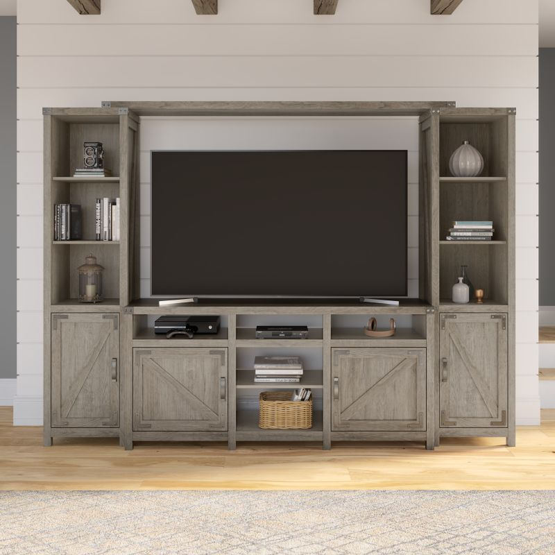 TV Stand with Shelves Entertainment Center - Cottage Grove