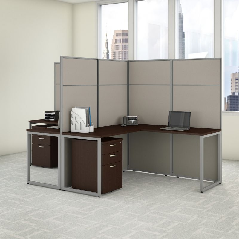 L Shaped Desk with Cubicle Panel - Easy Office Collection