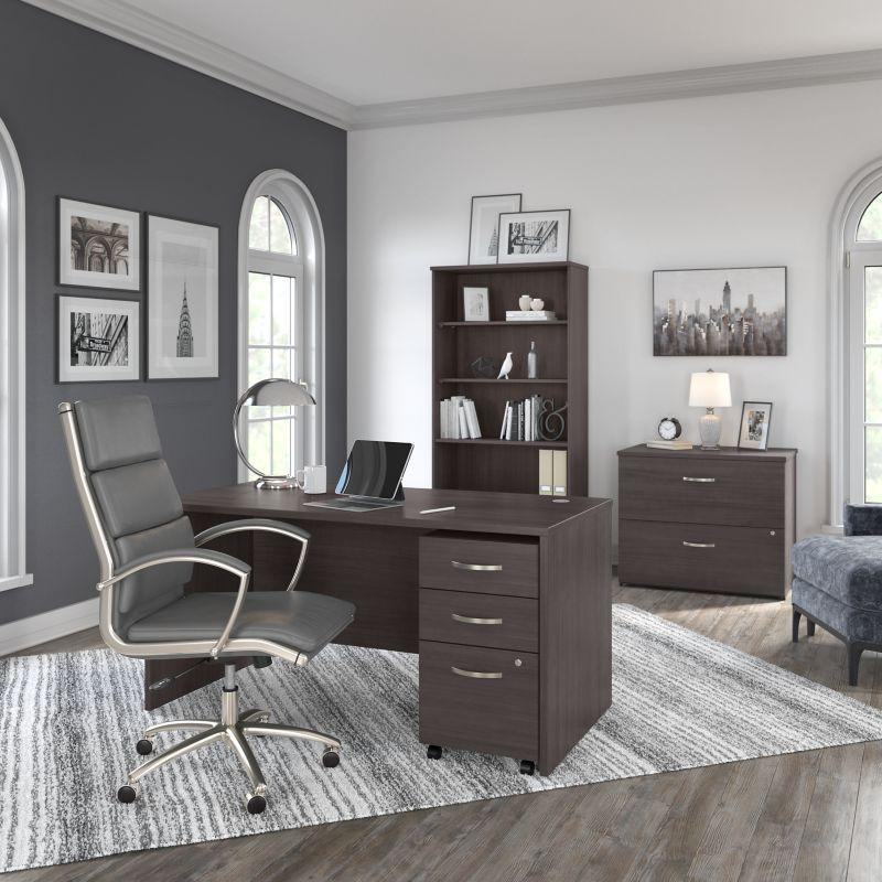 Office Desk with Mobile File Cabinet - Studio C