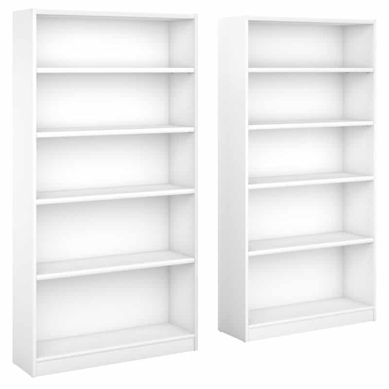 5 Shelf Bookcase Set of 2 - Universal Collection