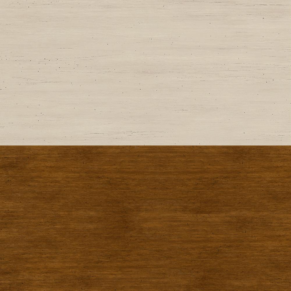 Antique White/Tea Maple