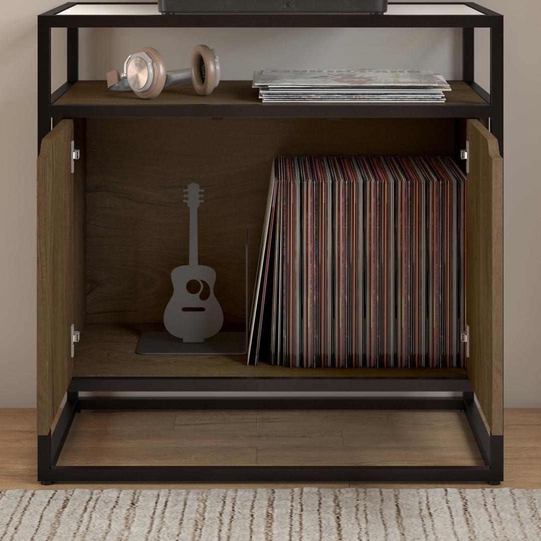 Record Player Stand with Storage