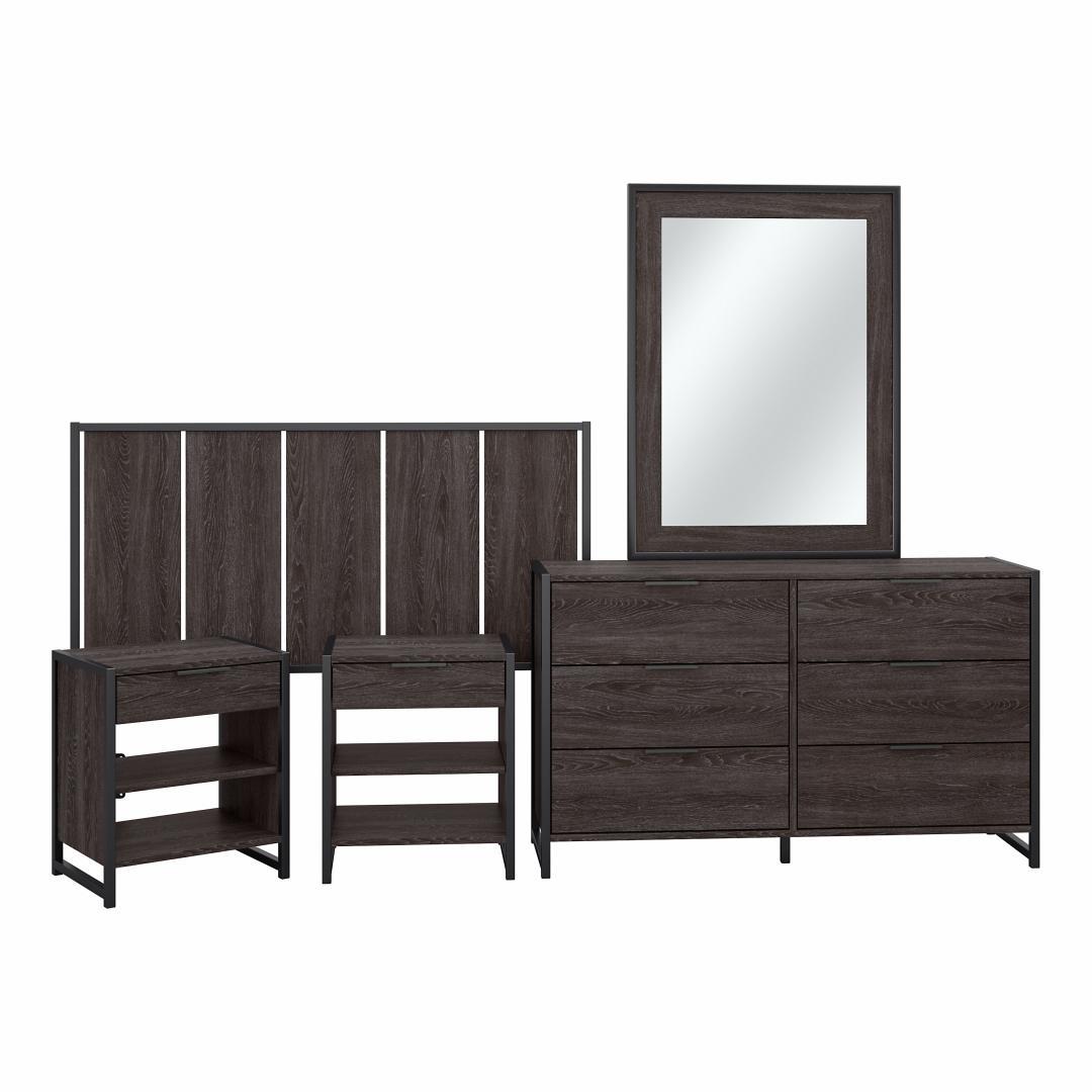 5 Piece Modern Bedroom Set with Full/Queen Size Headboard