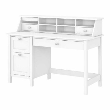 54W Computer Desk with Drawers and Desktop Organizer