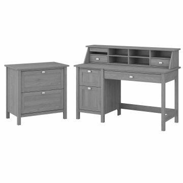 54W Computer Desk with Drawers, Desktop Organizer and File Cabinet