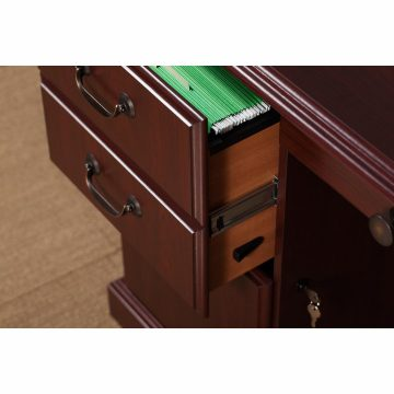 Manager's Desk, Credenza with Hutch and Lateral File Cabinet