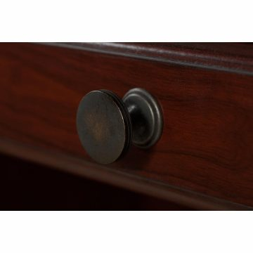 Manager's Desk, Credenza with Hutch, Lateral File Cabinet and Bookcase