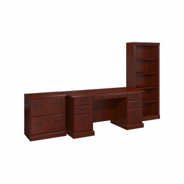 Manager's Desk, Lateral File Cabinet and Bookcase