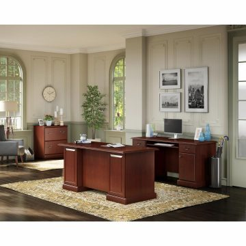 Manager's Desk, Credenza and Lateral File Cabinet