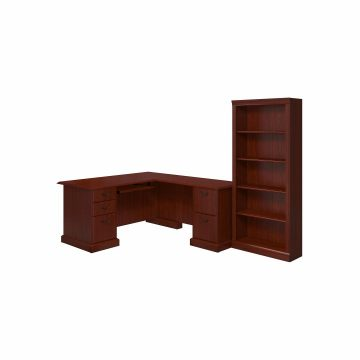 L Shaped Desk and Bookcase