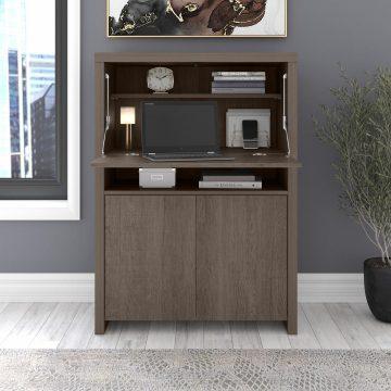 Secretary Desk with Storage Cabinet