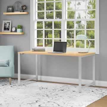 72W x 24D Table Desk with Metal Legs