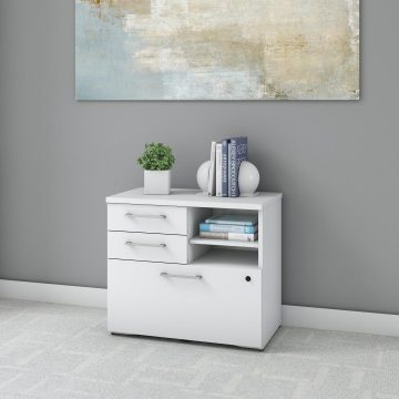 30W Lateral File Cabinet with Shelves