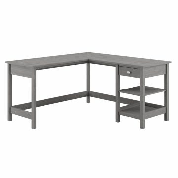 60W L Shaped Computer Desk with Storage