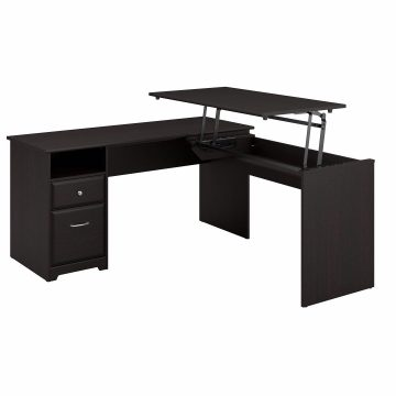 60W 3 Position L Shaped Sit to Stand Desk