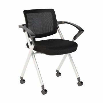 Mesh Back Folding Office Chairs Set of 2