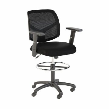 Petite Mesh Back Drafting Chair with Chrome Foot Ring