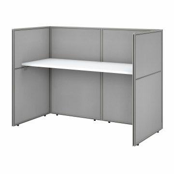60W Desk with 45H Closed Cubicle Panel