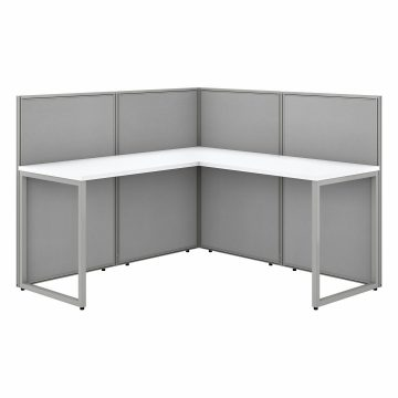 60W L Shaped Desk with 45H Cubicle Panel
