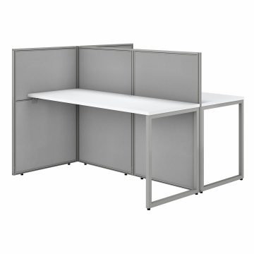 60W 2 Person Desk with 45H Cubicle Panel