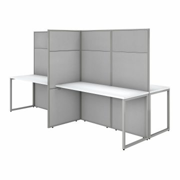 60W 4 Person Desk with 66H Cubicle Panel