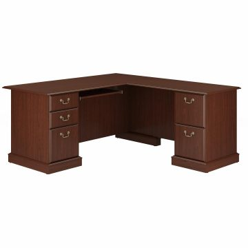 L Shaped Computer Desk with Drawers