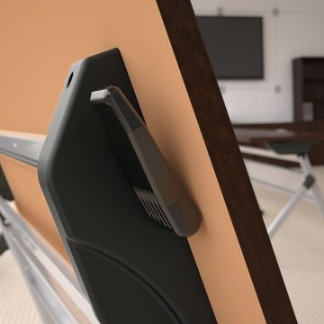60W x 24D Folding Training Table with Wheels