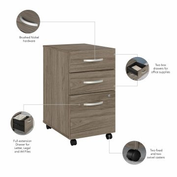 48W x 30D Computer Table Desk and Chair Set with Mobile File Cabinet