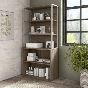 Tall Etagere Bookcase