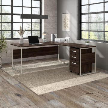 72W x 36D Computer Table Desk with Metal Legs