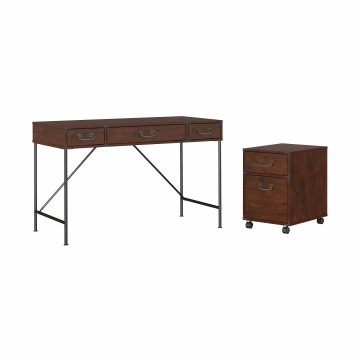 48W Writing Desk and 2 Drawer Mobile Pedestal