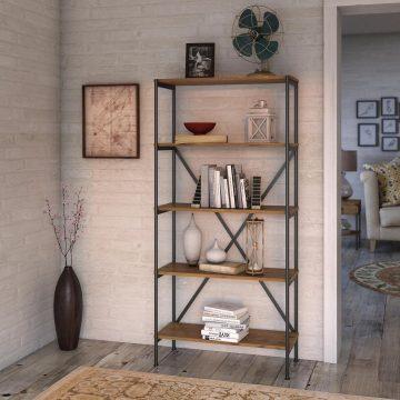 5 Shelf Etagere Bookcase