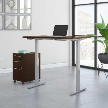 48W x 24D Electric Height Adjustable Standing Desk with Storage