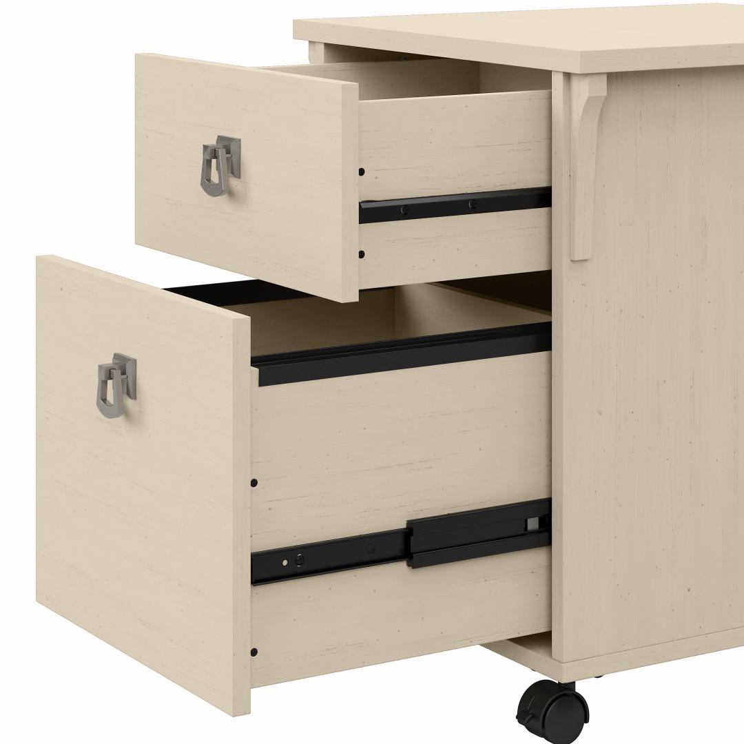 48W Writing Desk with 2 Drawer Mobile File Cabinet