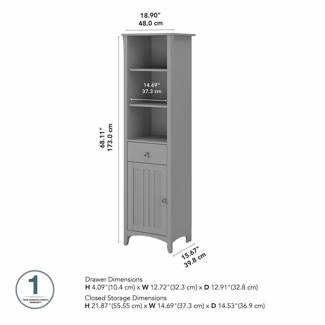 Tall Narrow Bookcase Cabinet