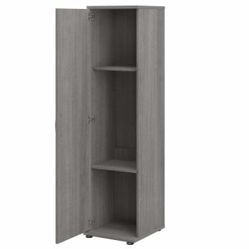 Tall Narrow Storage Cabinet with Door and Shelves
