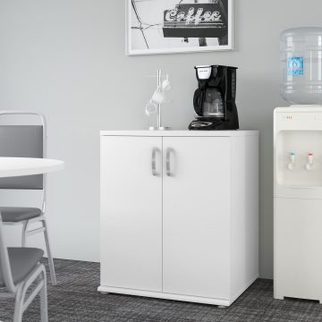 Floor Storage Cabinet with Doors and Shelves