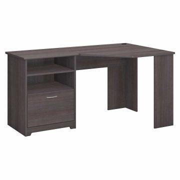 60W Corner Desk with Storage