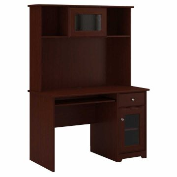 48W Small Computer Desk with Hutch and Keyboard Tray