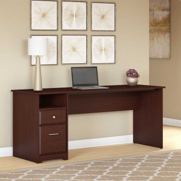 72W Computer Desk with Drawers