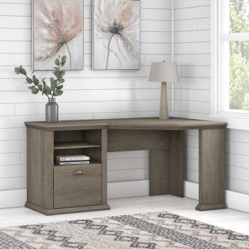 60W Corner Desk with Storage