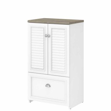 2 Door Storage Cabinet with File Drawer
