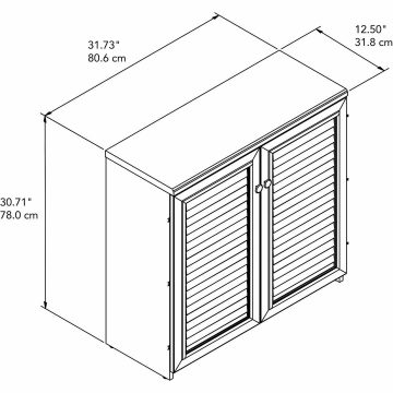 Small Storage Cabinet with Doors and Shelves