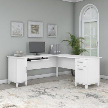 72W L Shaped Desk with Storage